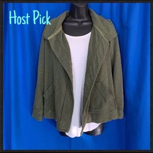 🏆HP🏆Army Green Jacket w/ pockets by Eddie Bauer
